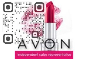 Avon Lady Christin QR Code qrcode design