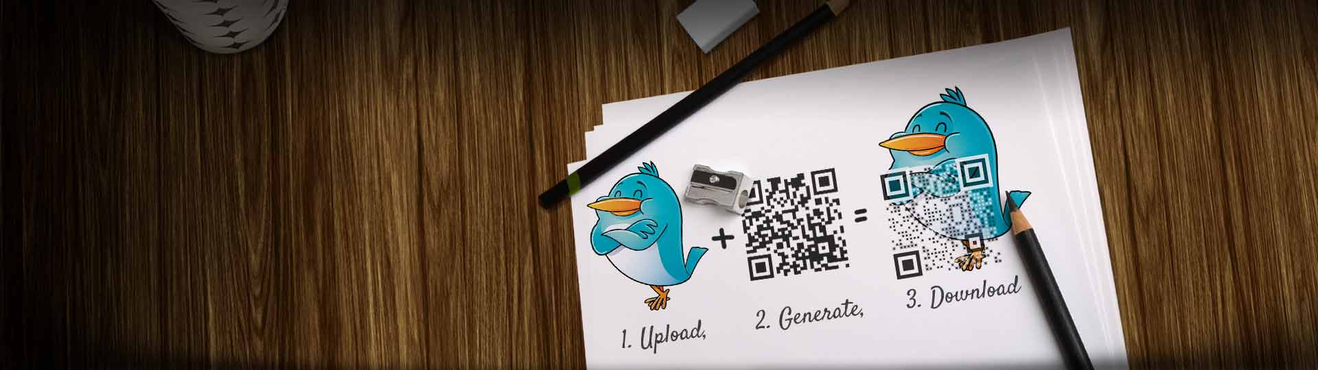 Three steps for easy QR Code design