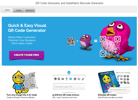 Visual QR Code Generator Widget