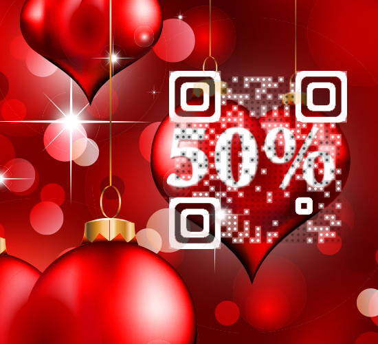 Valentine's Day Visual QR Coupon Code